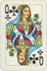 Queen Of Clubs Year Card. Destiny Cards Free Reading.